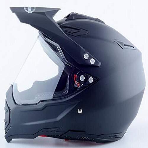 Nuovo casco da cross integrale per uomo e donna As Monsters 805 Matte Black XL