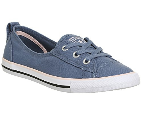 Converse Chucks Ballerina 547165C Dainty All Star Ballet Lace Navy Blau Blue Pink Canvas Exlusive