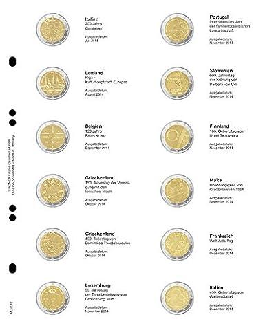Feuille numismatique pré-imprimée 2-Euro: Italie 07/2014 - Italie 12/2014 [Lindner