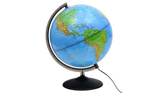 Preisvergleich Produktbild Globus Doppelbild Leuchtglobus 30cm Weltkugel Weltkarte Globen Schülerglobus NEU