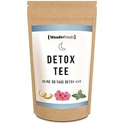 Detox Tee Night - deine 30 Tage Entgiftungskur / Entschlackungskur | 100% natürliche Teemischung | Hergestellt in Deutschland | Abnehmen ohne Diät Pillen | Leber entgiften | nur 0,3 € pro Tekanne