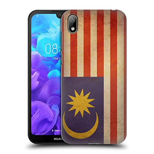 Head Case Designs Malaya Malaiisch Vintage Fahnen 5 Harte Rueckseiten Huelle kompatibel mit Huawei Y5 (2019) Malaya Cover