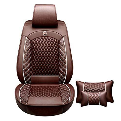 ShiBin Sitzbezüge Autositzbezug Vier Jahreszeiten Universal New Special Stoff Auto Abdeckung Sommer Leder Tuch Sitzbezug Leder All-Inclusive Sitzbezügesets (Color : Brown)