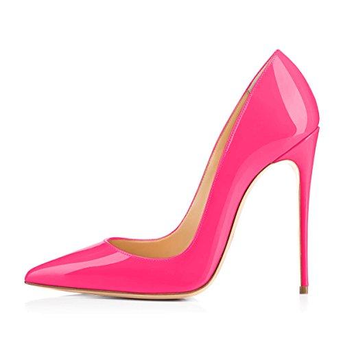 onlymaker Scarpe col tacco donna, Rosa (Glazed Candy Pink), 46-47 EU