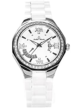 Stella Maris Damen-Armbanduhr Analog Quarz Premium Keramik Diamanten - STM15Y2
