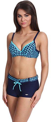 Verano Bikini Set Push Up per Donna Benita Navy/Blu