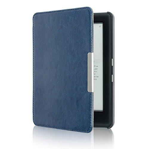 Culater® Mise en Veille Automatique Housse en PU Cuir Magnétique Pour KOBO GLO HD 6.0inch (Bleu)