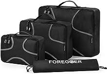 foregoer packing cubes conjunto de equipaje organizadores de viaje con bolsa de lavandería