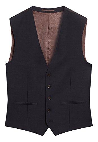 next Uomo Completo Testurizzato Vestibilità Skinny: Gilet Blu Navy