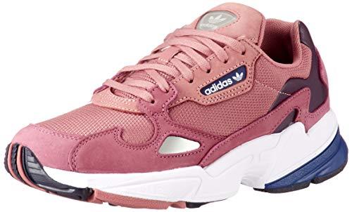 adidas Falcon W, Zapatillas de Deporte para Mujer, Rosa Rosnat/Azuosc 000, 36 2/3 EU