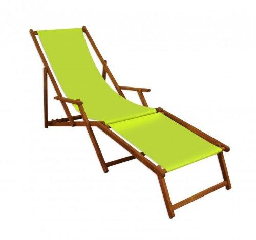 Sonnenliege Liegestuhl Pistazie Fußteil Gartenliege Holz Deckchair Strandstuhl Gartenmöbel 10-306...