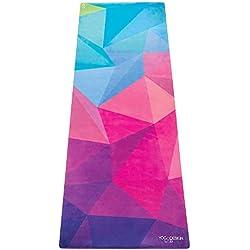La Colchoneta de Yoga Combo. VERSION VIAJE. Ligera, Antideslizante, Super Plegable. Colchoneta/Toalla Diseñada con Mayor Agarre Cuando Sudas! Lavable a Máquina, Ecológica. Doblalà y Véte! (Geo)