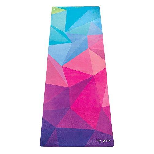 Yoga Design Lab Combo Yogamatte 3,5mm | rutschfest, Matte/Handtuch, Guter Halt bei viel Schweiß, Naturkautschuk | mit Tragegurt (Geo)