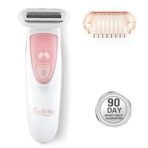 Lady Shaver Foshine Hair Razor for Women Electric Trimmer Cordless Body Hair Remover Painless Portable Rechargeable for Underarm Neck Arm Legs Bikini Line with 1 Extra Comb