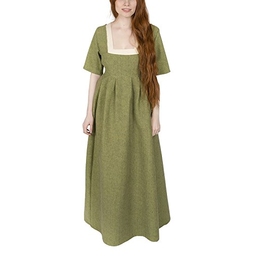 Burgschneider Mittelalter Kleid Frideswinde 100% Baumwolle Lindgrün ()