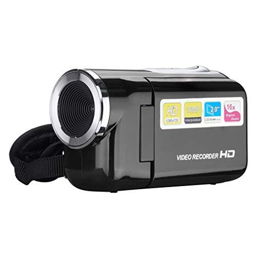 Hahuha  Video-Camcorder HD 720P Handheld-Digitalkamera 4X Digitalzoom 2,0 Zoll (Schwarz)