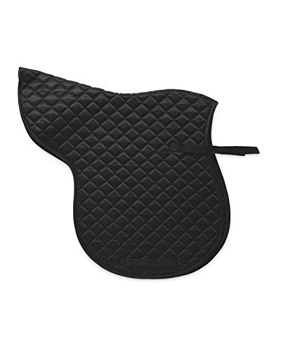 100% Polyester 170GSM Quilted Horse Cob Saddle Numnah - Colour Black ( Equestrian Horse Cob Saddle Pads ) 1