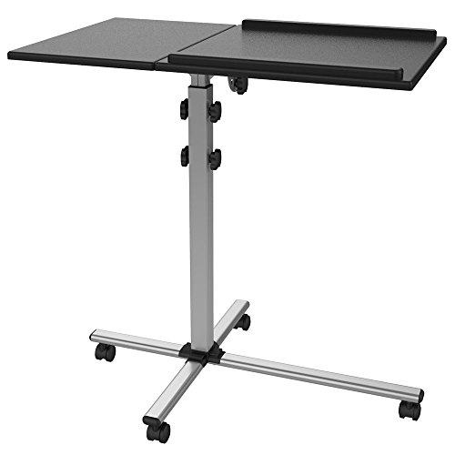 Mobiler Projektor Beamer Wagen Rollwagen Notebook Laptop Tisch TS-2 mit 2 Platten stabil mobil neigbar - Beamer Stand-wagen