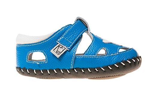Little Blue Lamb Babyschuhe Lauflernschuhe Sandalen Stern, Größe: 6-12 Monate, Farbe: blau weiß blau-weiß