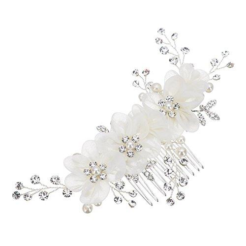 Braut Hochzeit Perlen Haarschmuck Haarblume Blüte Blume Schmuck Haarkamm Braut Frisur