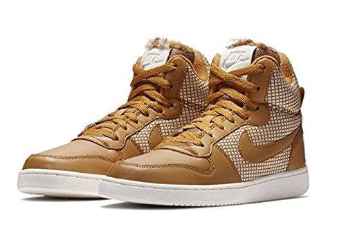 Nike Damen Court Borough Mid SE Hohe Sneaker, Mehrfarbig (Wheat/Wheat-Sail), 38.5 EU (High-top-sneaker Retro)
