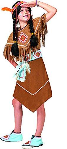 Kostüm Mädchen Prärie - erdbeerclown - Indianerkleid Kostüm für Mädchen, 152-158, 12-13 Jahre, Mehrfarbig