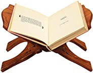 Karigar Creations Wooden Hand Carved Holy Book Stand for Quran, Bible, Gita for Reading