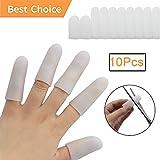 Protezioni per dita in gel (12 pezzi) * Nuovo materiale * Manicotti per dita grilletto, eczema mano, screpolature delle dita, artrite.