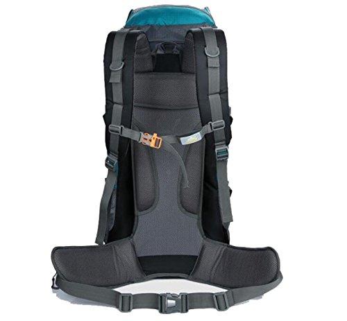 Borsa Per Alpinismo All'aperto 80 + 5 Litri Uomini E Donne Sport Grande Zaino Da Campeggio Impermeabile,Black DarkBlue
