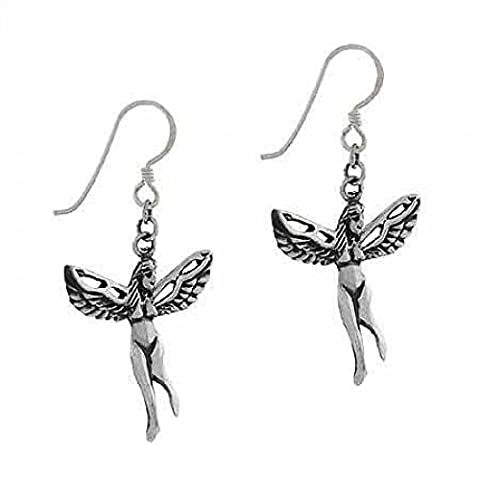 Sterling Silver 'Iris' Greek Rainbow goddess Angel Earrings