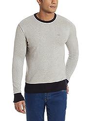 Lee Mens Cotton Sweater (8907222743093_L18608F94B8800M_Medium_Grey)