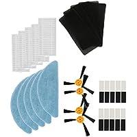 Louu 5x Mop Paño + 4x Cepillo Lateral + 5x filtro HEPA + 5x Filtros de