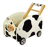 Schiebewagen / Spielzeugkiste Kuh