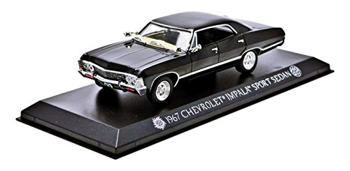 greenlight-collectibles-86441-chevrolet-impala-sport-sedan-serie-super-natural-1967-echelle-1-43-noi