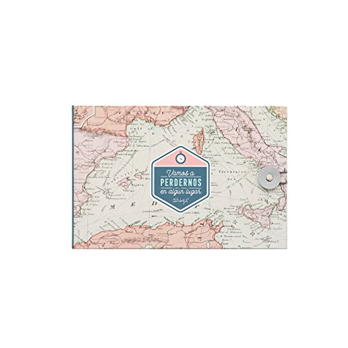 Mr. Wonderful Álbum de Viaje Vamos a perdernos en algún Lugar, Cartón, Rosa, 23x3.5x15 cm