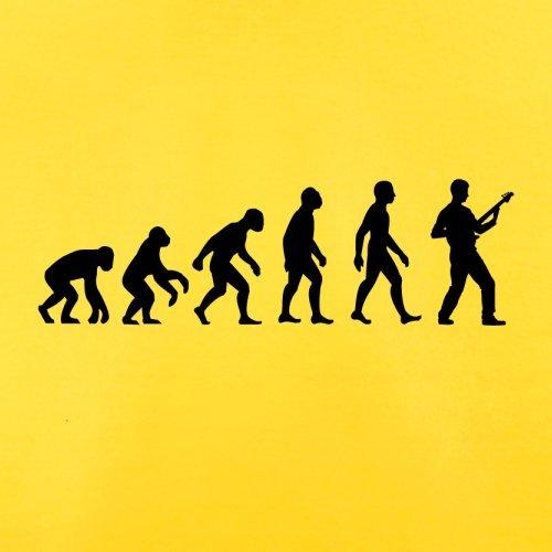 Evolution of Man - Bassist - Herren T-Shirt - 10 Farben Gelb
