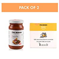 Fric Bergen Salsa Dip/Sauces (200 GMS) & Honey Lemon Tea Liquid Satchets (15 Tea Satchets) - Combo (Pack of 2)