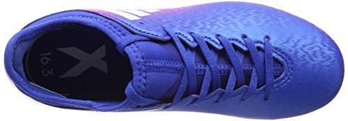 adidas Jungen X 16.3 Ag J Fußballschuhe Blau (Blue/ftwr White/shock Pink)