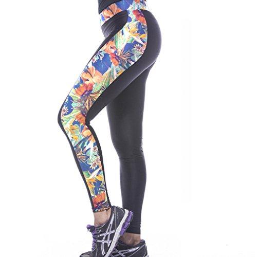 Belsen Femme sport fort et beau yoga élasticité Leggings Leaf