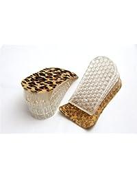 FreshGadgetz 1 Par Plantillas de gel de silicona de 4 capas para elevar los talones - Leopard