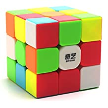 EasyGame-Qiyi Warrior W 3x3 Speed Cube Stickerless Magic Cube Rompecabezas (6-color)
