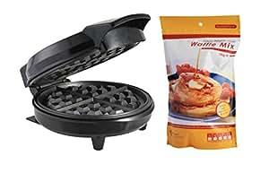 Quality Belgian Waffle Maker including 1kg Luxury Style Belgian Waffle Mix