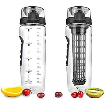 Opard Trinkflasche mit Früchtebehälter 946ml Wasserflasche