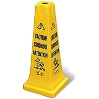 """Rubbermaid FG627700YEL-004 Schutzkegel, mehrsprachig,""""Caution"""" und""""Wet Floor"""", 4 Stück"""