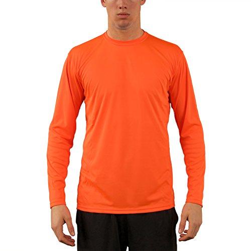 Vapor Apparel Herren UPF 50+ UV Sonnenschutz Langarm Performance T-Shirt XX-L Sicherheits Orange