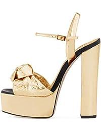 ZZ Piattaforma da Donna con Sandali con Tacco Alto Scarpe da Sera di Grandi f8af4ccb9fe