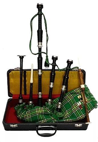 Tolles Scottish Highland Dudelsack Rosewood Silber-verschiedenen Farben Free Learning Buch und Zubehör Black Silver National Irish Cover -