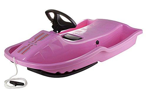STIGA Kinder Snowpower-Steering Sledge, Pink, One size