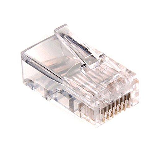 Maclean - Mctv-662 - conector solido rj45 cat-5 e (8p8c) (100 piezas cada paquete)
