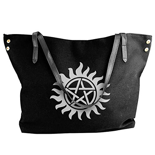tiao9143 Damenhandtaschen,Damen-Schultertaschen Women's Canvas Large Tote Shoulder Handbag Supernatural Perfect Handbag Bag Tote Classic purse shopping Sling Bag -